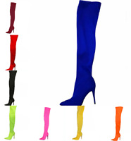Nightclub Stiletto Over Knee Thigh Boots High Heels  Womens Pump Shoes Party New
