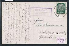 79967) PST II Stempel Burgstädt (Sachsen) Mohsdorf über.. Ra2 Karte 1934