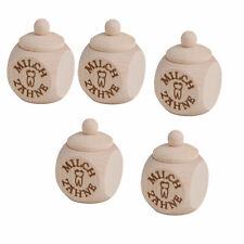 5 x Holzdose Dose Zahndose Milchzahndose mit Schraubdeckel Milchzähne H 5 cm