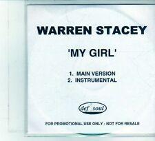 (DU742) Warren Stacey, My Girl - DJ CD