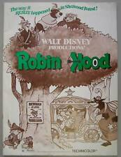 Disney's ROBIN HOOD Pressbook with insert, 1973