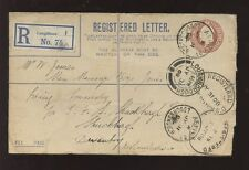 RAILWAY GB KE7 RUGBY STATION REGISTERED OVAL on STATIONERY 1908 LOUGHBOROUGH