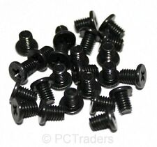 "24 x M3x4mm Black 2.5"" Laptop Hard Drive & SSD Mounting Screws - Free UK P&P"
