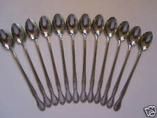 12  MELINDA/ELEGANCE  ICED TEA SPOONS NEW 18/0 STAINLESS FREE SHIPPING USA
