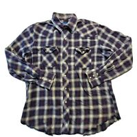 Wrangler Western Mens Pearl Snap Button Up Long Sleeve Casual Shirt Size Medium