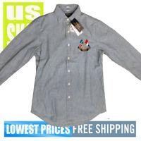 Polo Ralph Lauren Men's NWT Denim 1967 100% Cotton L Sleeve Button Shirt SMALL