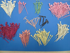 Vtg Lot 230 Assorted Picks/Pins for Brush Hair Curlers Rollers Spiral 60s Pink
