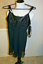 Nwt Flora Nikrooz 2 pc Black Nightie Size X-Small with panty (S59)