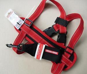 EZYDOG H09LR Large Red Ezy Dog Chest Plate Harness & Car Seat Belt Loop SIZE L