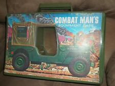 VINTAGE COMBAT MAN'S EQUIPMENT ARMY MILITARY TOY CASE FOR GI JOE FIGURES VEHICLE
