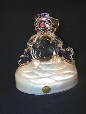 Christmas Holiday Music Box Plays Frosty the Snowman Cristal D'Arques @26