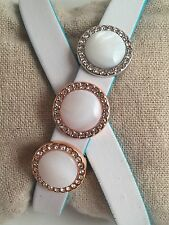 Mother of Pearl DIsc Slide Charms *New* Fits Keep Collective