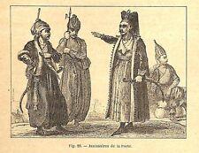 TURQUIE TURKIYE JANISSAIRES GRAVURE ENGRAVING 1895