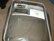 Cotton Brand 3 Piece KING Comforter garment washed 100% Cotton gray