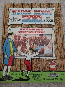 1976 NASCAR DOVER MASON DIXON 500 RACE PROGRAM BENNY PARSONS RACE WINNER