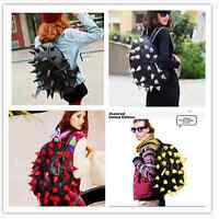 New Fashion Hedgehog Spike Punk Backpack Spiky Tablet Traveling Camping Bags
