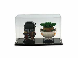 Display Case For LEGO BrickHeadz Mandalorian & The Child Set (75317)