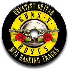 40 GUNS N ROSES & SLASH STYLE HEAVY METAL ROCK GUITAR MP3 BACKING JAM TRACKS CD