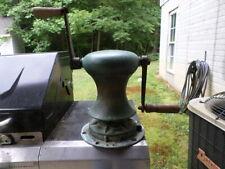 Antique Rare Anchor Windlass & Wildcat Heavy Bronze w/handles & mount hardware