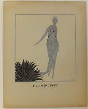 """""""La Pervenche""""  mode féminine art déco pochoir vers 1920"""