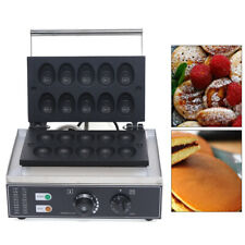 Us Nonstick Electric Egg Cake Egg Shaped Waffle Maker Iron Baker Machine