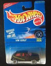HOT WHEELS VW - FAHRVERGNUGEN - GOLF COLLECTOR #474 BLACK 1996 NEW UNOPENED