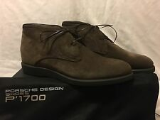 PORSCHE DESIGN SHOES New Bristol ML3 Suede Derbies Brown Boots EU 44 Uk 9.5 BNIB