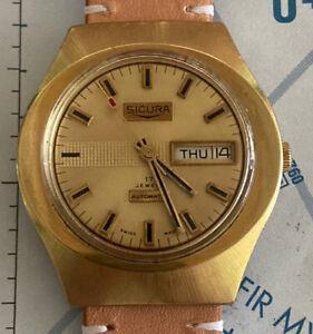 Sicura Skin Diver Automatic Daydate 17 Jewels Brevet Swiss Made