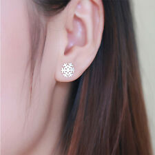 Regalo Mujer Pendientes Colgantes Aretes De 925 Plata Cristal nieve Earrings