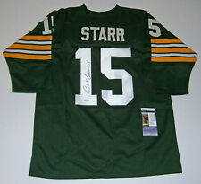 PACKERS Bart Starr signed custom green #15 jersey JSA COA AUTO Autographed
