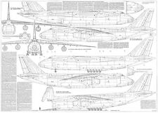 PLS-100106 1/100 Antonov An-124 Full Size Scale Plans (two A0 format pages)