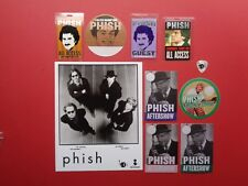 PHISH,promo photo,8 Backstage passes,Guitar Pick,RARE Vintage Originals