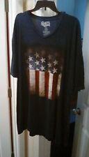 Shirts Happen American Flag 2XL Shirt Flag Logo D- Stressed Logo