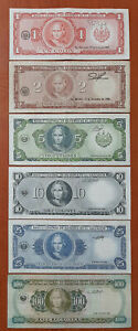 SET OF EL SALVADOR OF THE DESIGN USED FROM 80'S 1+2+5+10+25+100 COLONES