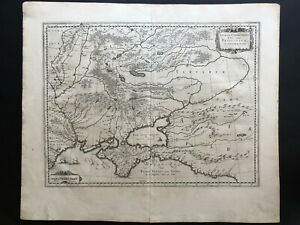 044 Antique Original 1645 map of Ukraine, Moldavia, Russia, Georgia Black Sea