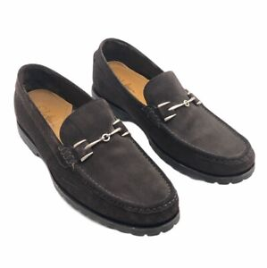 Cole Haan Mens Dark Brown Suede Loafer Shoes Size 10M