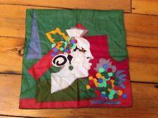 Vintage YSL Yves Saint Laurent L'Automne Pocket Square Handkerchief Scarf 16x15