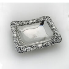 Gorham Ornate Rectangle Bowl Sterling Silver 1891 Date Mark Mono