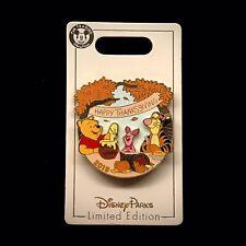 Le Thanksgiving 2019 Winnie the Pooh Friends Tigger Piglet Hunny Pot Disney Pin