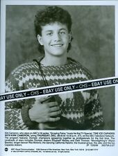 "KIRK CAMERON ORIGINAL 1988 B&W 7x9 PRESS PHOTO ""GROWING PAINS"" ""THE ICE CAPADES"""