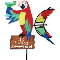 Macaw Parrot Its 5 O'clock Somewhere Wind Spinner 20""