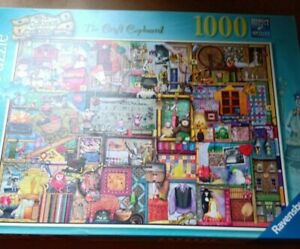 Ravensburger 1000 Piece Jigsaw Puzzle The Craft Cupboard Complete Colin Thompson