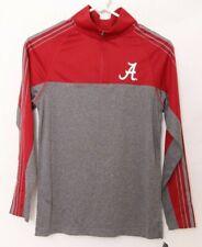 NEW Alabama Crimson Tide Colosseum Gray Heathered LS 1/4 Zip Shirt Youth M 12-14