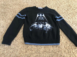 Youth Boys Gap Kids Star Wars Darth Vader Sweater Large 10 Wool Blend