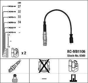 IGNITION HT LEAD SET NGK RC-MB1106            6349