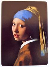SWAP CARD. 'GIRL WITH A PEARL EARRING'. ARTIST JOHANNES VERMEER. WIDE. MINT