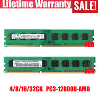 4/8/16/32GB 2Rx4 PC3-12800 DDR3 1600Mhz Desktop Memory RAM for AMD chips lot