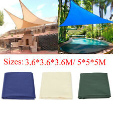 Waterproof UV Block Triangle Sun Shade Sail Garden Patio Awning Canopy