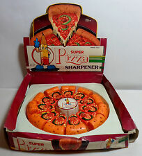 STATIONERY VTG 80's SUPER PIZZA 1 x PENCIL SHARPENER UNUSED FROM FRESH CASE
