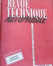Revue technique CHEVROLET POWERGLIDE moteurs 216 235 standard RTA NOVEMBRE 1954